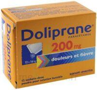 Doliprane 200 Mg Poudre Pour Solution Buvable En Sachet-dose B/12 à Le Teich