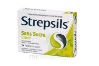 Strepsils Citron Sans Sucre, Pastille édulcorée à L'isomalt, Au Maltitol Et à La Saccharine Sodique à Le Teich