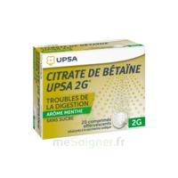 Citrate De Bétaïne Upsa 2 G Comprimés Effervescents Sans Sucre Menthe édulcoré à La Saccharine Sodique T/20 à Le Teich