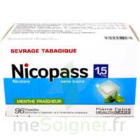 Nicopass 1,5 Mg Pastille Sans Sucre Menthe Fraîcheur Plq/96 à Le Teich