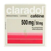 Claradol Cafeine 500 Mg/50 Mg, Comprimé Effervescent à Le Teich