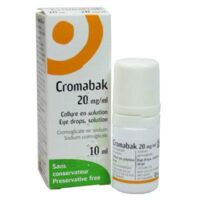 Cromabak 20 Mg/ml, Collyre En Solution à Le Teich