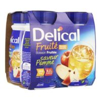 Delical Boisson Fruitee Nutriment Pomme 4bouteilles/200ml à Le Teich