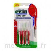 Gum Trav - Ler, 0,8 Mm, Manche Rouge , Blister 4 à Le Teich