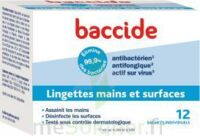 Baccide Lingette Désinfectante Mains & Surface 12 Pochettes à Le Teich